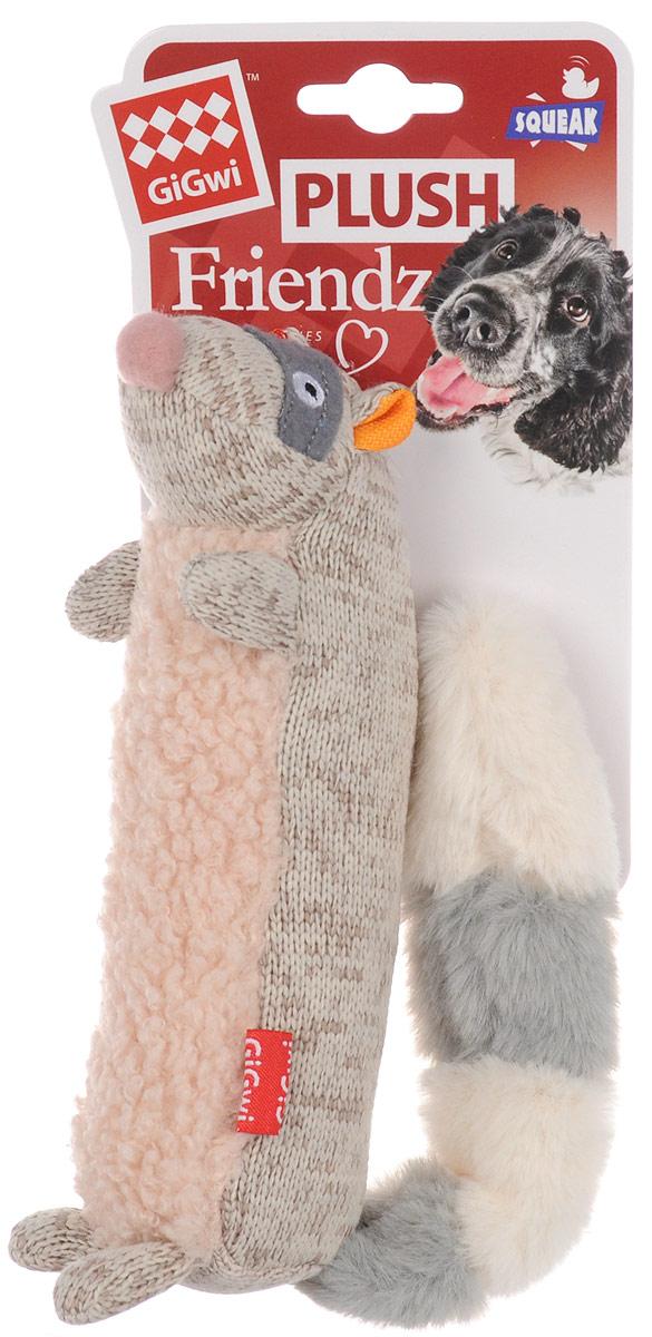 Игрушка для собак GiGwi Енот, с пищалкой, длина 17 см мягкие игрушки disney лэмми 25 см