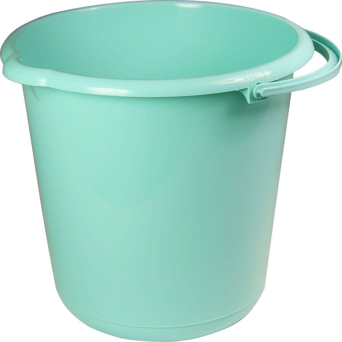 Ведро хозяйственное Idea, цвет: аквамарин, 15 л ведро idea цвет марморный 10 л