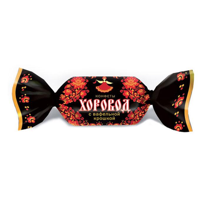 Хоровод конфеты с вафельной крошкой, 250 г бабаевский наслаждение конфеты с мягкой карамелью в шоколадной глазури 250 г