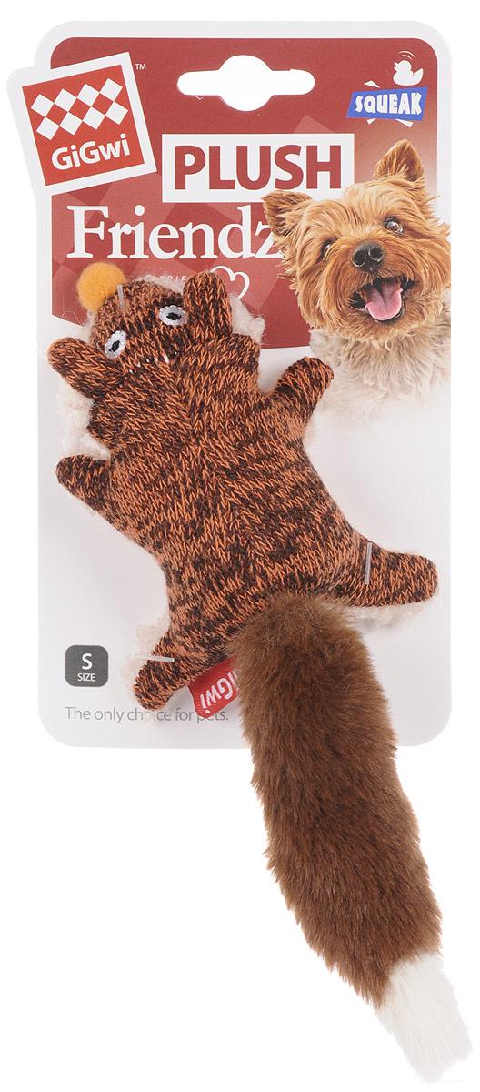 Игрушка для собак GiGwi Лиса, с пищалкой, длина 9 см мягкие игрушки disney лэмми 25 см