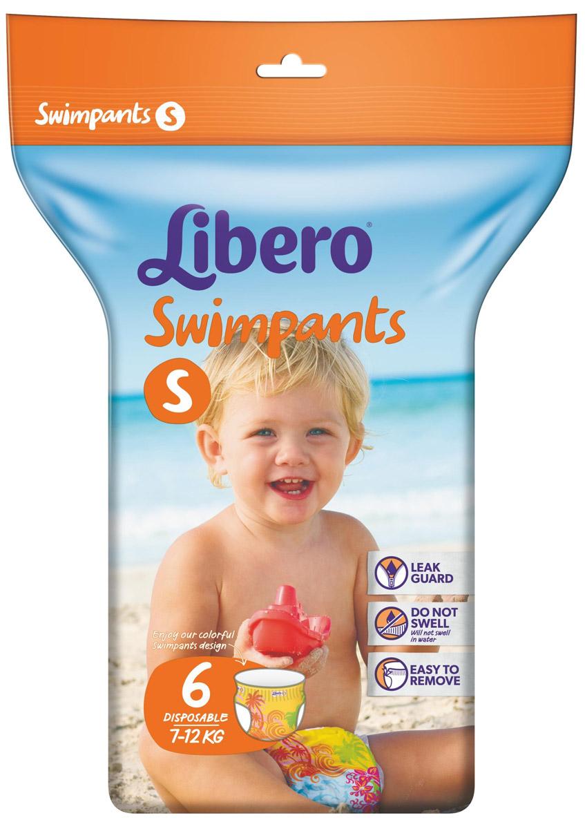 Libero Трусики для плавания Swimpants Small (7-12 кг) 6 шт