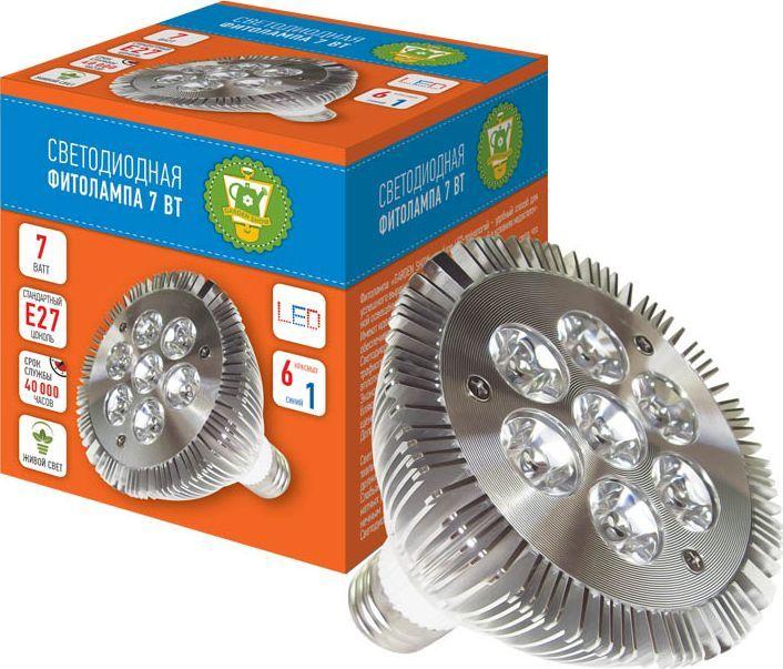 Фитолампа светодиодная Garden Show, 7 Вт, 7 LED (6 красных, 1 синий) фитолампа для растений ppg t8i 900 agro 12w