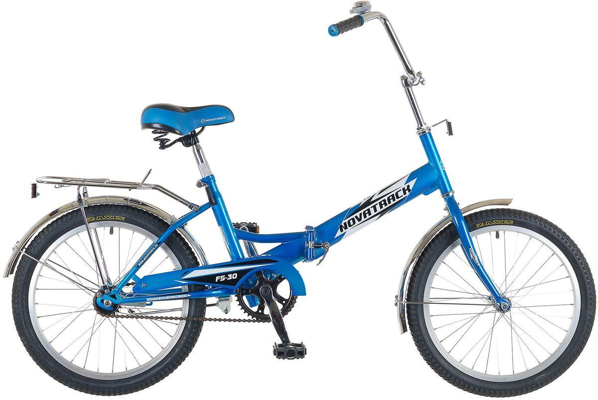 Велосипед детский Novatrack FS-30, цвет: синий, белый, черный, 20 велосипед детский novatrack action цвет черный 24