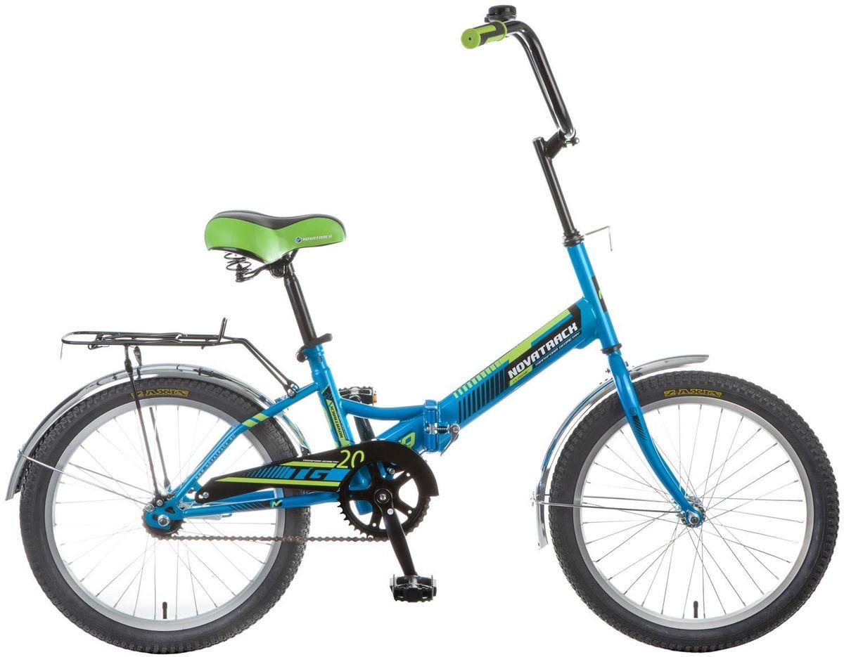 Велосипед детский Novatrack TG-20 Classic, цвет: синий, зеленый, 20