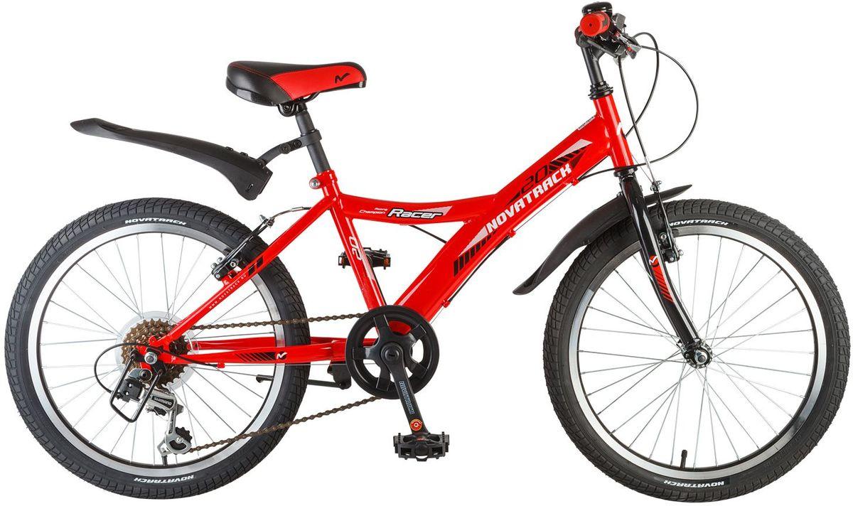 Велосипед детский Novatrack Racer, цвет: красный, 20