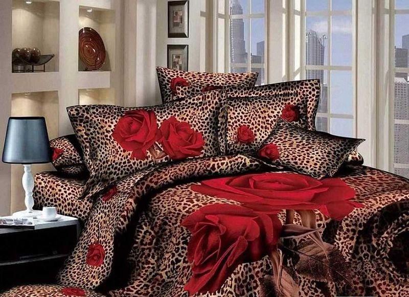 Комплект белья МарТекс Красная роза, 1,5-спальный, наволочки 50х7001-0501-1Комплект постельного белья МарТекс Красная роза, выполненный из сатина (100% хлопок), состоит из пододеяльника, простыни и двух наволочек. Изделия оформлены оригинальным принтом. Сатин - прочная, легкая и мягкая на ощупь ткань. Белье из него не линяет при стирке и легко гладится. Эта ткань традиционно считается одной из лучших для изготовления постельного белья. Такой комплект подойдет для любого стилевого и цветового решения интерьера, а также создаст в доме уют. Советы по выбору постельного белья от блогера Ирины Соковых. Статья OZON Гид