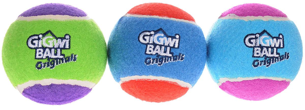 Игрушка для собак GiGwi Мячи, с пищалкой, диаметр 4 см, 3 шт. 75340 игрушка для собак gigwi мячи с пищалкой диаметр 8 см 3 шт