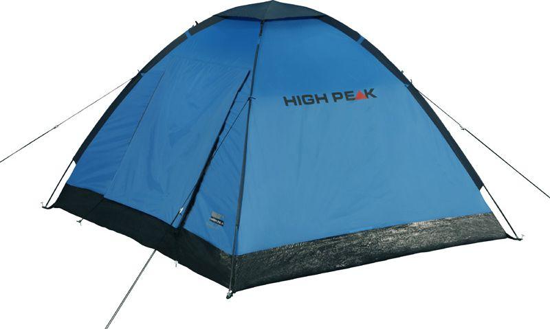 Палатка High Peak Beaver 3, цвет: синий, серый, 200 х 180 х 120 см. 10167 палатка high peak pavillon цвет светло серый темно серый 300 х 300 х 210 см 14046