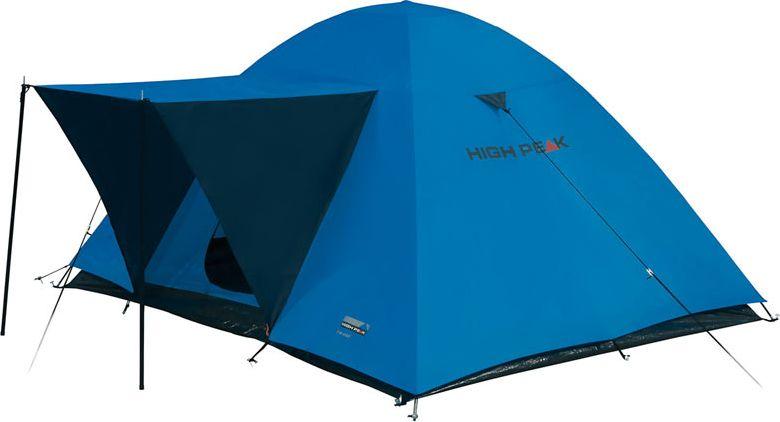 Палатка High Peak Texel 3, цвет: синий, серый, 220 х 180 х 120 см. 10175 палатка high peak pavillon цвет светло серый темно серый 300 х 300 х 210 см 14046