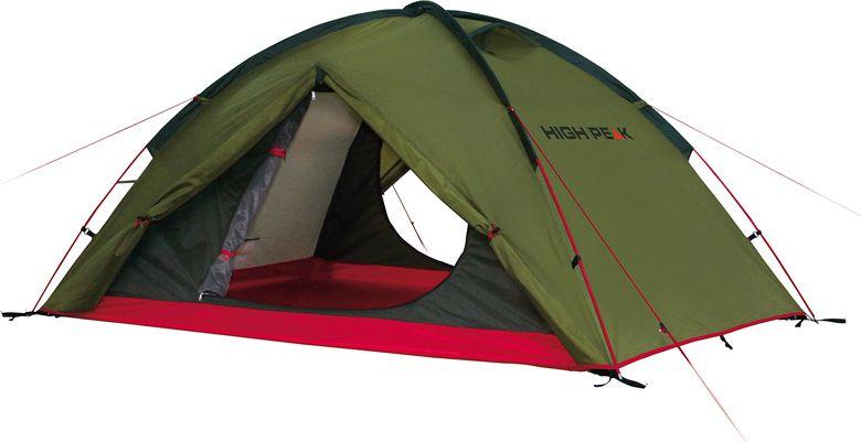 Палатка High Peak Woodpecker 3, цвет: зеленый, красный, 340 х 190 х 220 см. 10194 палатка high peak pavillon цвет светло серый темно серый 300 х 300 х 210 см 14046