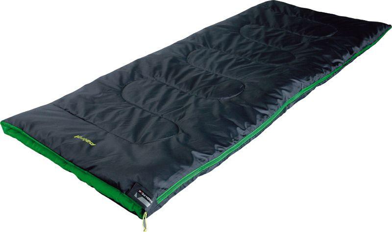 Спальный мешок-одеяло High Peak Patrol, цвет: антрацит, зеленый, левосторонняя молния