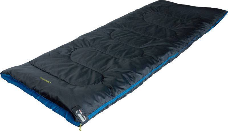 Спальный мешок-одеяло High Peak Ceduna, цвет: антрацит, синий, левосторонняя молния
