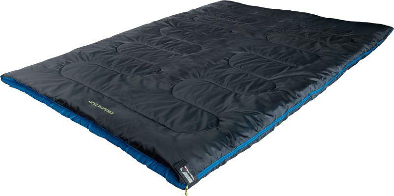 Спальный мешок-одеяло High Peak Ceduna Duo, цвет: антрацит, синий, левосторонняя молния
