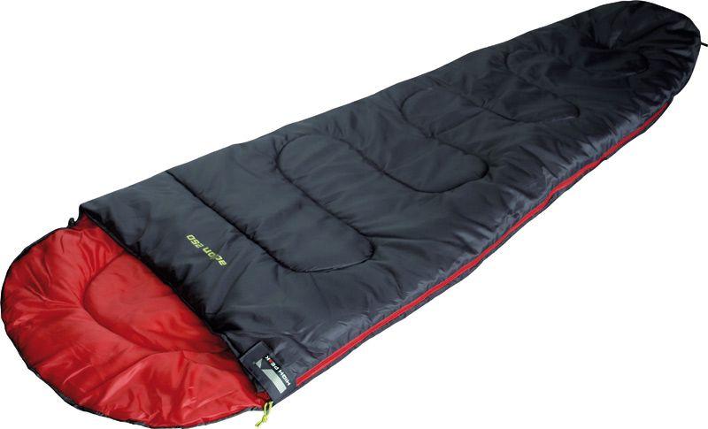 Спальный мешок High Peak Action 250, цвет: антрацит, красный, левосторонняя молния спальник woodland pilot 250