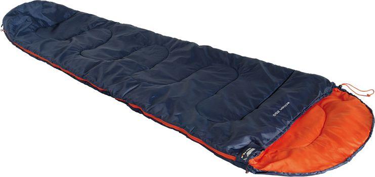 Спальный мешок High Peak Action 250, цвет: синий, оранжевый, левосторонняя молния спальник woodland pilot 250