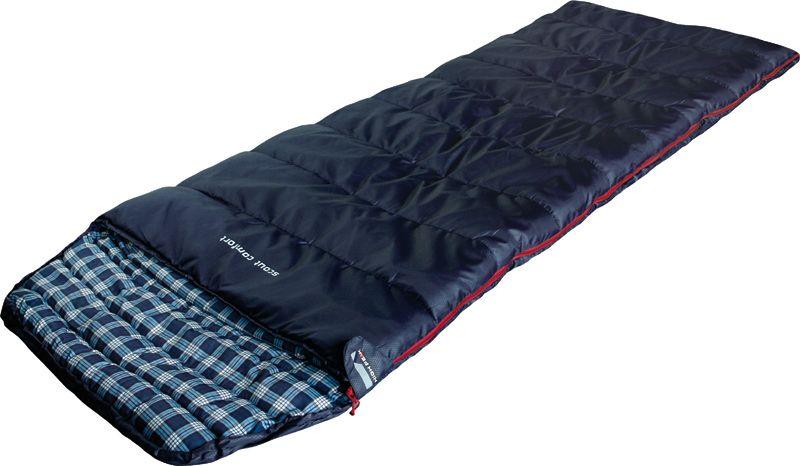 Спальный мешок-одеяло High Peak Scout Comfort, цвет: темно-синий, левосторонняя молния спальный мешок одеяло high peak scout comfort цвет темно синий левосторонняя молния