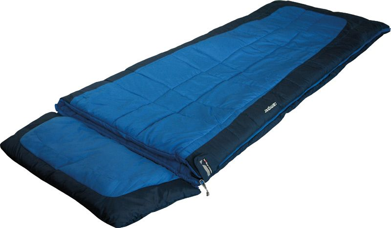 Спальный мешок-одеяло High Peak Camper, цвет: синий, темно-синий, левосторонняя молния спальный мешок одеяло high peak scout comfort цвет темно синий левосторонняя молния