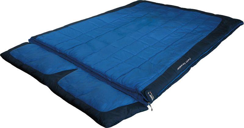 Спальный мешок-одеяло High Peak Twin Forester, цвет: синий, темно-синий, левосторонняя молния спальный мешок одеяло high peak scout comfort цвет темно синий левосторонняя молния