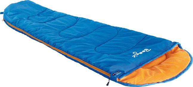 Спальный мешок High Peak Boogie, цвет: синий, оранжевый, левосторонняя молния