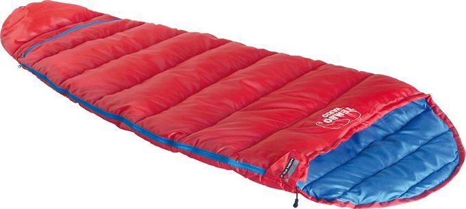 Спальный мешок High Peak Tembo Vario, цвет: красный, синий, левосторонняя молния
