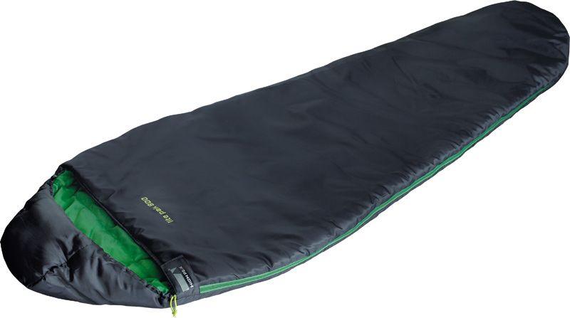 Спальный мешок High Peak Lite Pak 800, цвет: антрацит, зеленый, левосторонняя молния