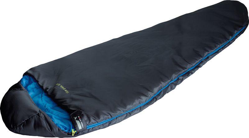 Спальный мешок High Peak Lite Pak 1200, цвет: антрацит, синий, левосторонняя молния