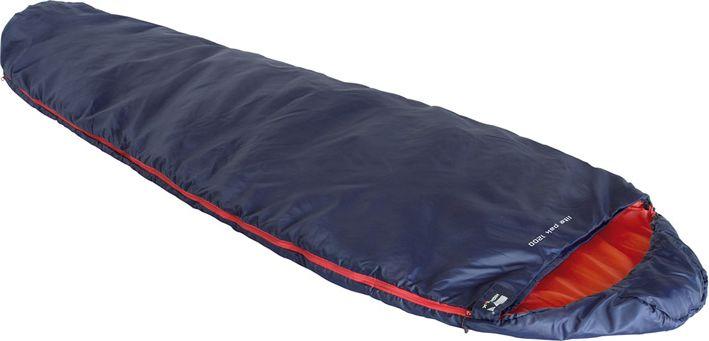 Спальный мешок High Peak Lite Pak 1200, цвет: синий, оранжевый, левосторонняя молния