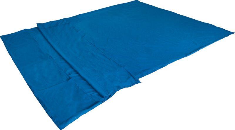 Вставка в спальный мешок High Peak Cotton Inlett Double, цвет: синий, 225 х 180 см. 23508