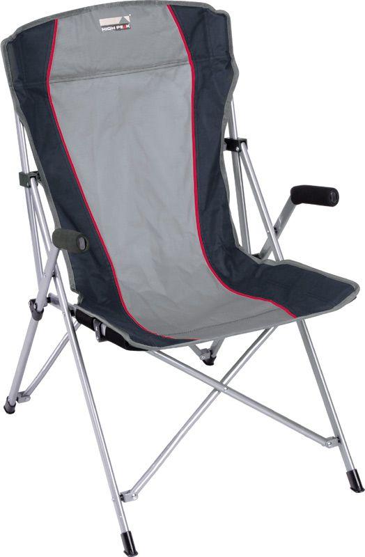 Кресло складное High Peak Campingstuhl Altea, цвет: серый, темно-серый, 56 х 44 х 46/95 см палатка high peak pavillon цвет светло серый темно серый 300 х 300 х 210 см 14046