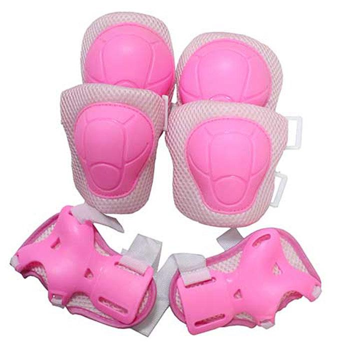 Комплект защиты Action, для катания на роликах, цвет: розовый. ZS-200. Размер S цена