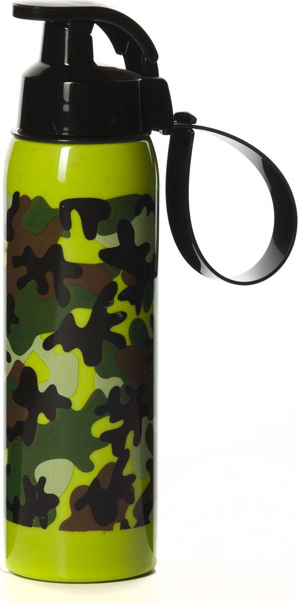 Бутылка для воды Herevin, цвет: зеленый, коричневый, черный, 500 мл. 161415-060 бутылка для воды herevin цвет красный белый 500 мл