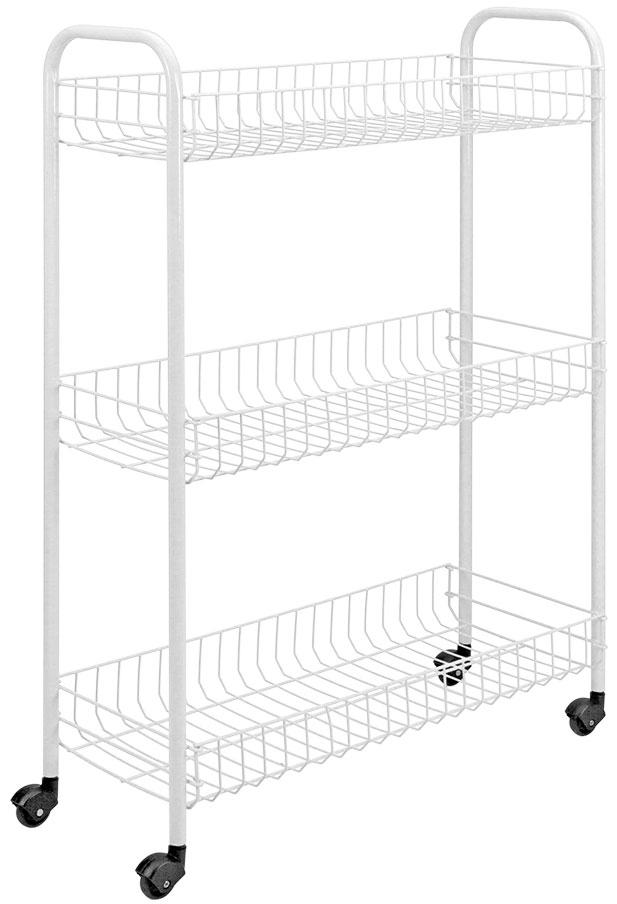 Этажерка Slim, 3 яруса этажерка metaltex madrid 2 яруса 41х 23 х 51 см