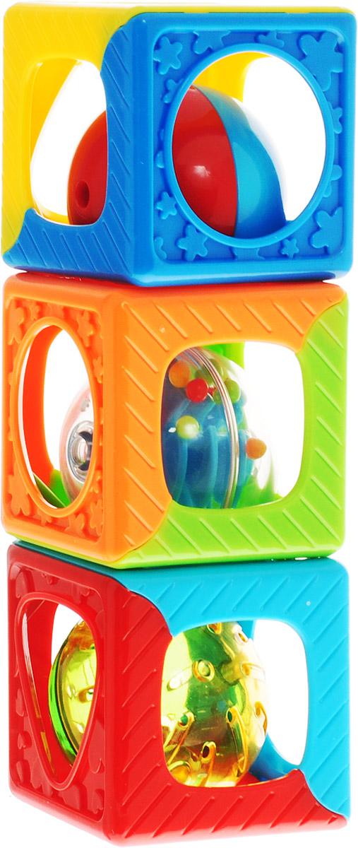 Playgo Развивающая игрушка Кубики-погремушка игрушка развивающая логический квадрат артикул д020