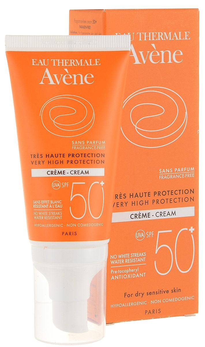 Avene Солнцезащитный крем SPF50+ без отдушек, 50 мл