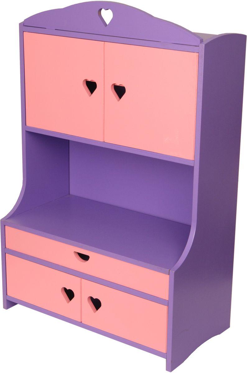 Краснокамская игрушка Мебель для кукол Буфет краснокамская игрушка игровой набор кукольная мебель шкафчик