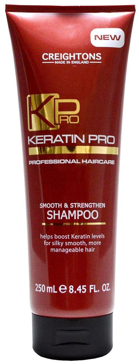 Creightons Укрепляющий и увлажняющий шампунь для волос с кератином, 250 мл creightons укрепляющий и увлажняющий кондиционер для волос с кератином 250 мл