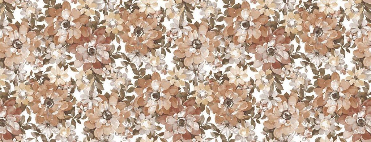 Столовая клеенка LCadesi Florista, цвет: коричневый, белый, 130 х 165 см. FL130165-132-03FL130165-132-03Взрослые