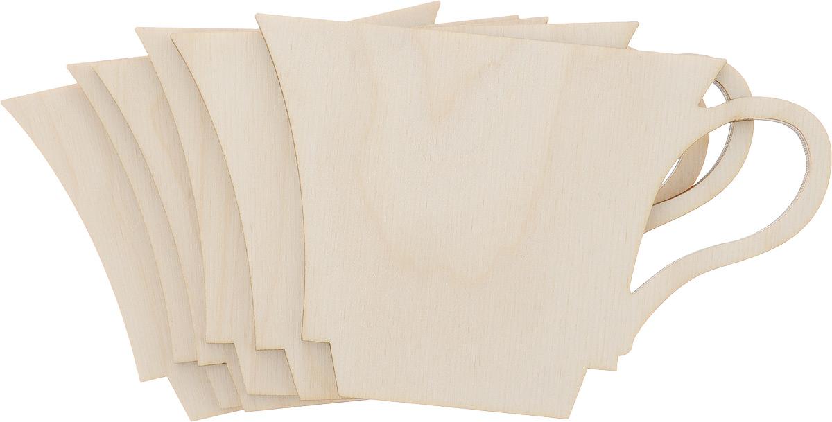 Заготовка деревянная Decoriton Подставки под горячее. Кружка, 8 х 12,5 х 0,4 см, 6 шт1110138Заготовка для декорирования Decoriton Подставки под горячее. Кружка изготовлена из высококачественной шлифованной фанеры. Превосходно подходит для любых акриловых красок, лаковых, перманентных и любых других маркеров по дереву, а также для декупажа и декорирования трафаретами. В комплект входит 6 заготовок в виде подставок под горячее в форме кружек.