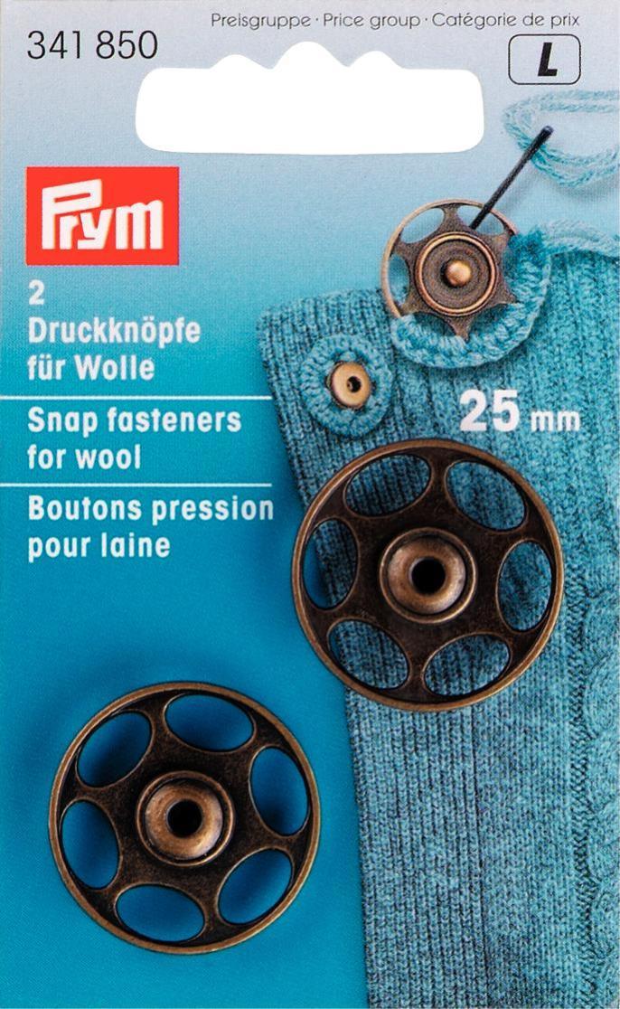 Набор кнопок Prym, для вязаных изделий, 25 мм, 2 шт prym