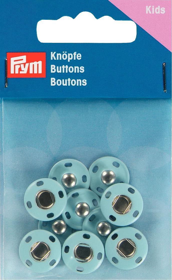 Набор кнопок Prym, цвет: светло-синий, 14 мм, 5 шт prym