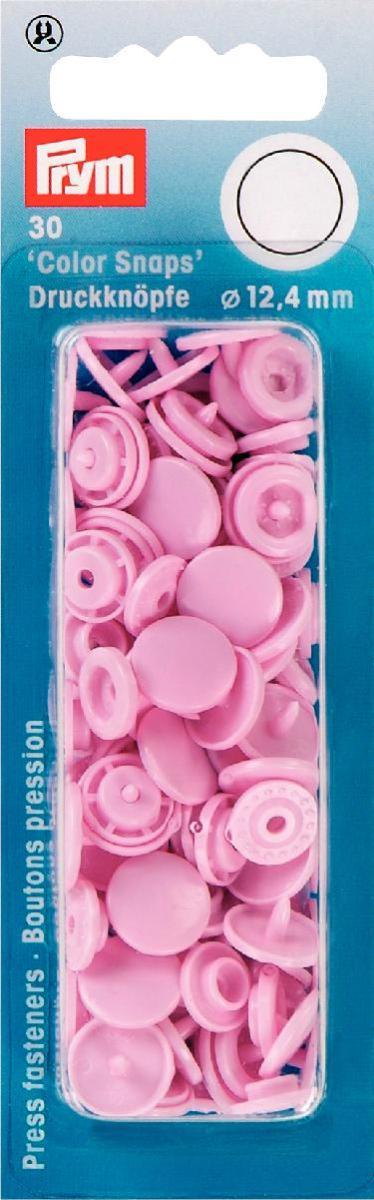Набор кнопок Prym Color Snaps, цвет: розовый, 12,4 мм, 30 шт набор инструментов для установки кнопок prym color snaps