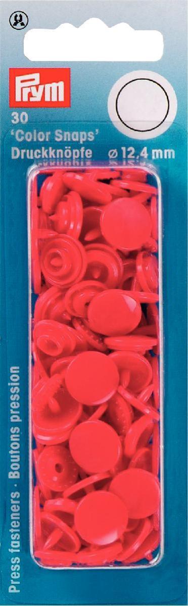 Набор кнопок Prym Color Snaps, цвет: красный, 12,4 мм, 30 шт набор инструментов для установки кнопок prym color snaps