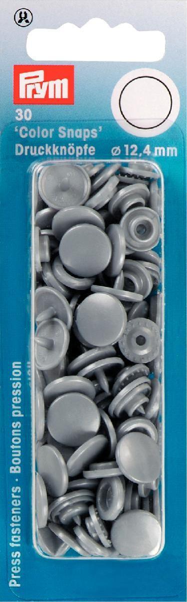 Набор кнопок Prym Color Snaps, цвет: серебристо-серый, 12,4 мм, 30 шт393145В набор кнопок Prym Color Snaps входит 30 шт. пластиковых кнопок, диаметром 12,4 мм. Для установки необходимы щипцы Vario и набор инструментов Color Snap.