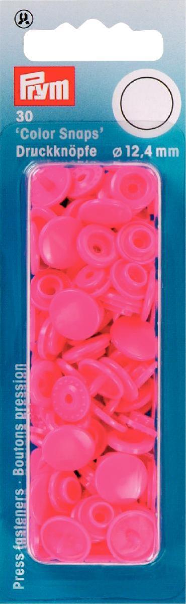Набор кнопок Prym Color Snaps, цвет: ярко-розовый, 12,4 мм, 30 шт набор инструментов для установки кнопок prym color snaps