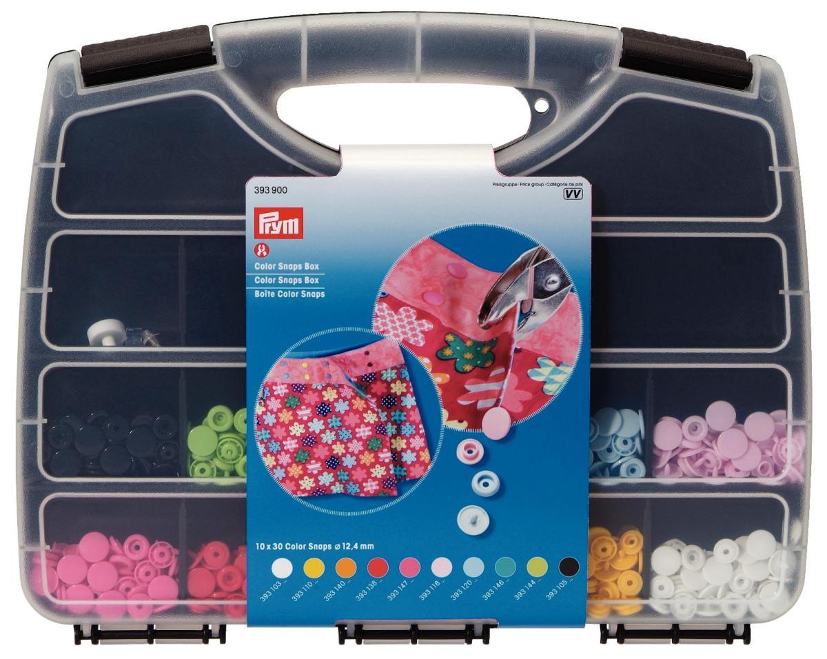 Набор кнопок Prym Color Snaps, с набором инструментов для установки, 300 шт набор инструментов для установки кнопок prym color snaps