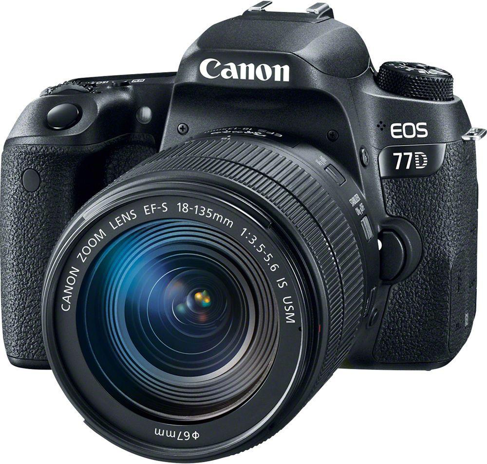 Зеркальный фотоаппарат Canon EOS 77D Kit 18-135 IS USM