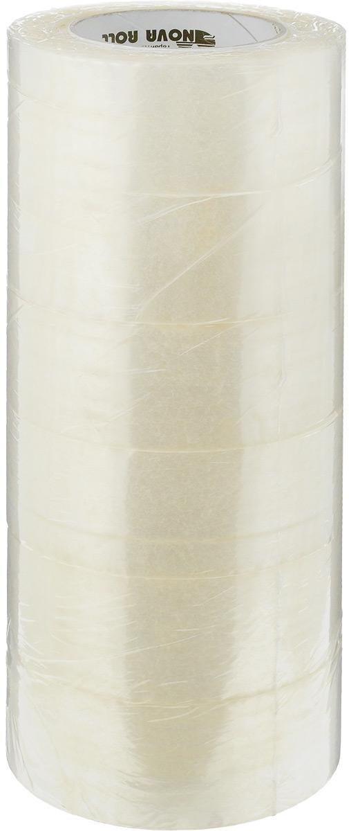 Скотч упаковочный  Nova Roll , цвет: прозрачный, ширина 4,8 см, длина 150 м, 6 шт