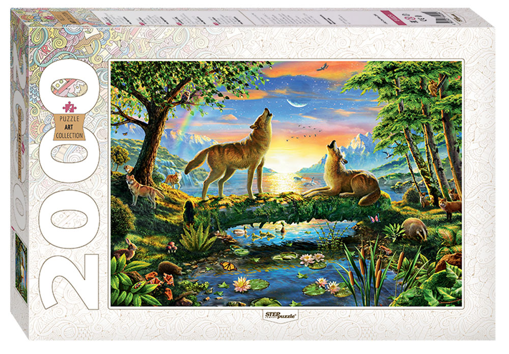 Step Puzzle Пазл Волки 84029 пазл step puzzle step puzzle рапунцель 360 элементов