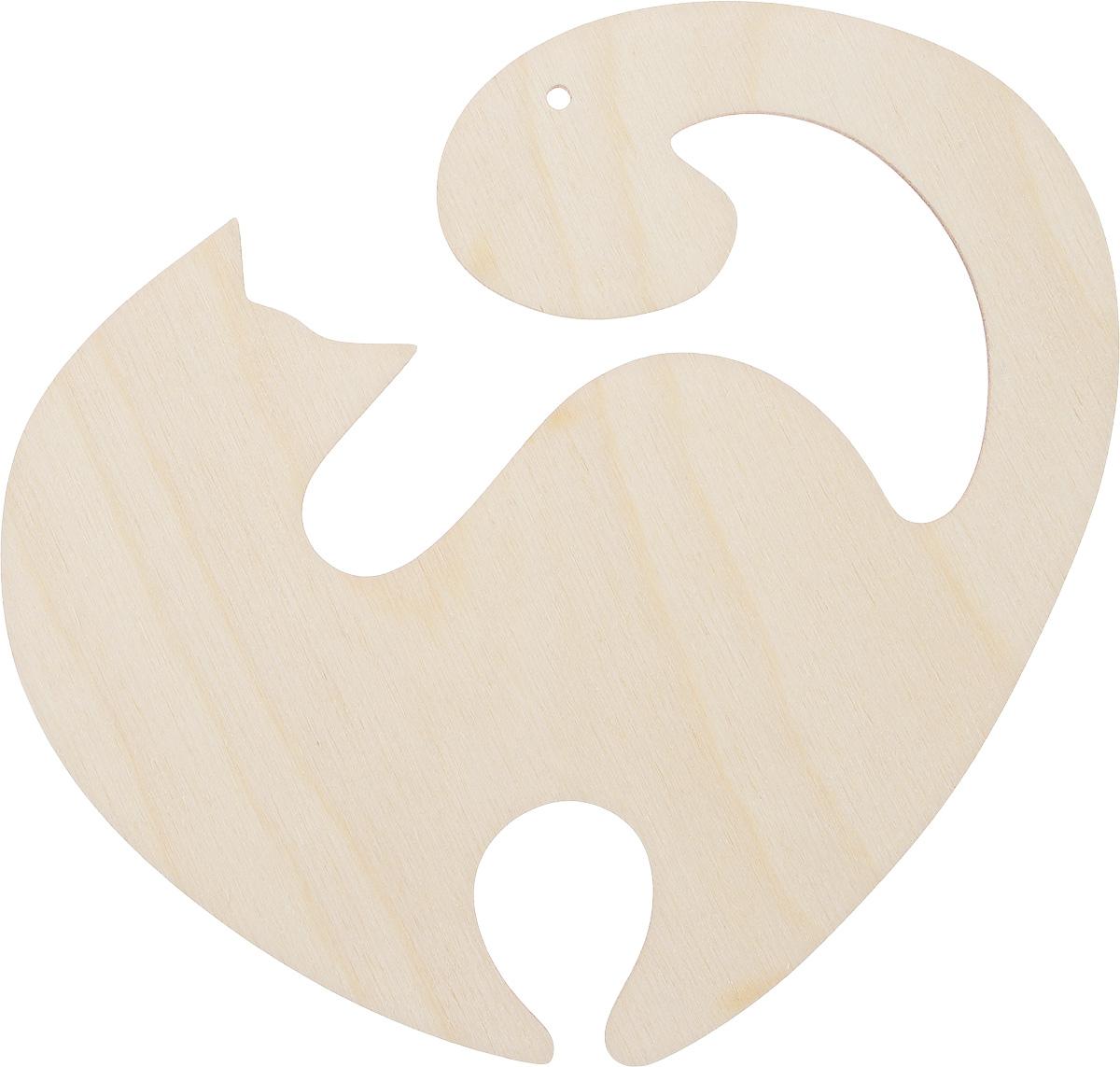 Заготовка деревянная Decoriton Кошечка изящная, 15 х 12 х 0,3 см idigo заготовка для декорирования из пенопласта корова 15 9см dz1501