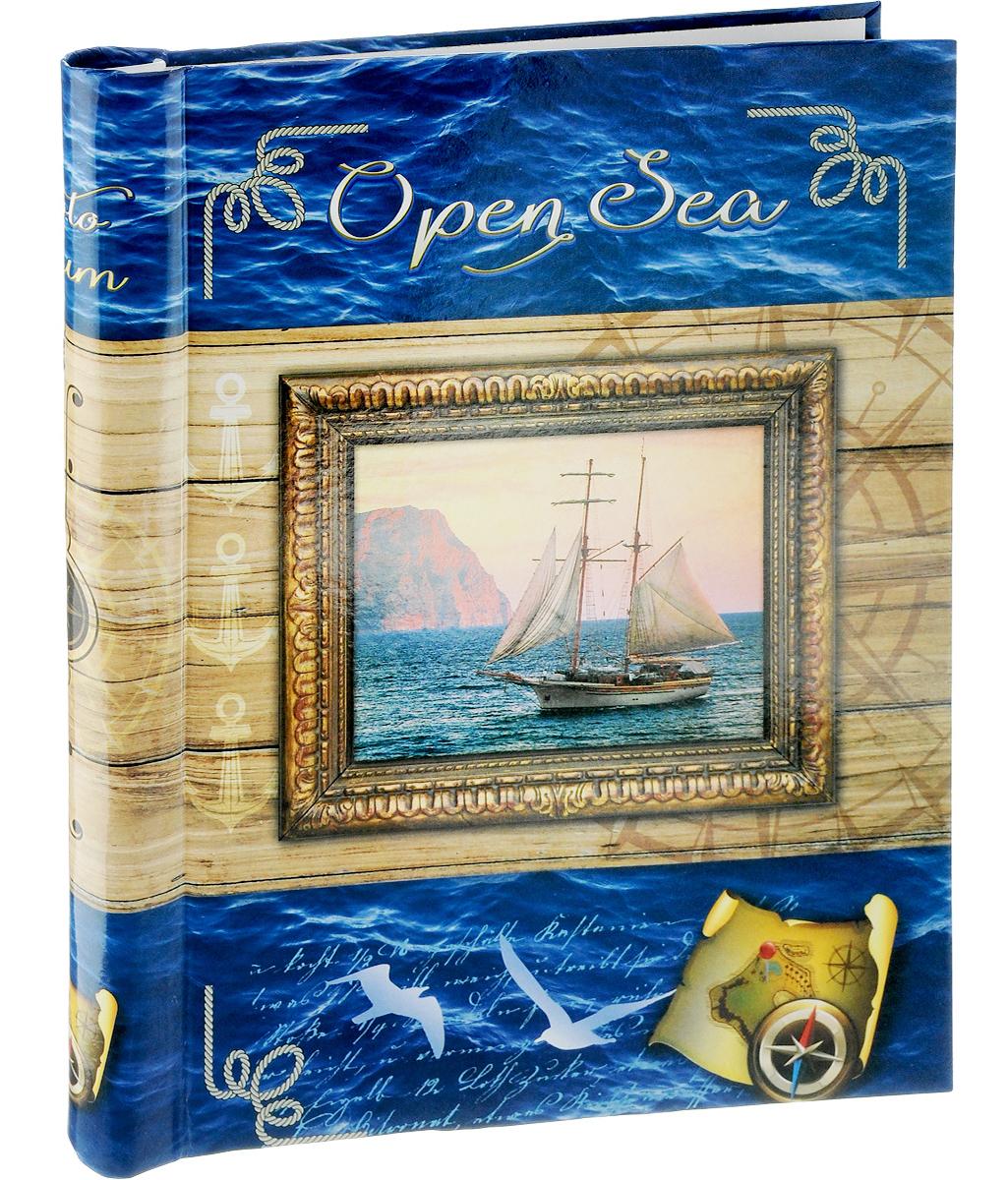 Фотоальбом Pioneer Open Sea, 10 магнитных листов, цвет: синий, песочный, 23 х 28 см фотоальбом pioneer stretch of imagination цвет синий 500 фото 10 х 15 см